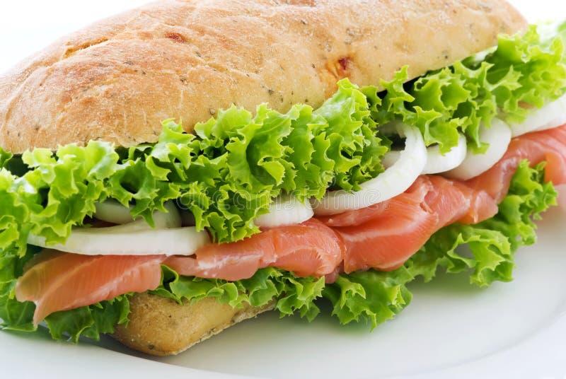 laxsmörgås arkivfoton