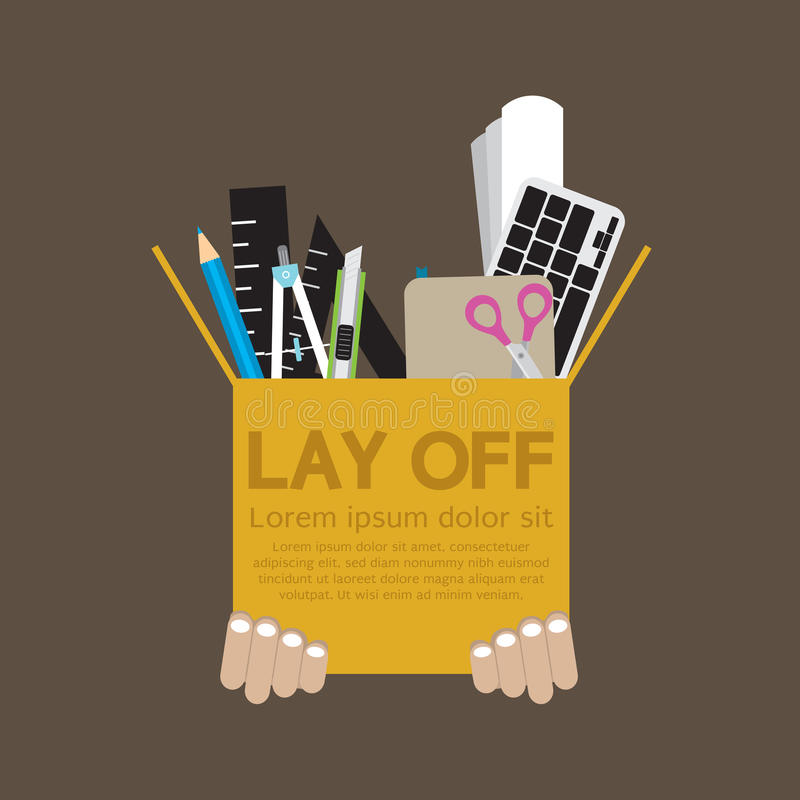 Lay Off. Concept Vector Illustration royalty free illustration