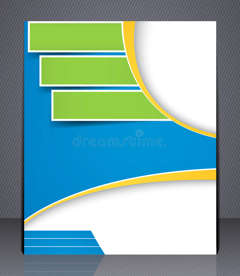 Lay-out bedrijfsbrochure. Malplaatje, of mede tijdschrift stock illustratie