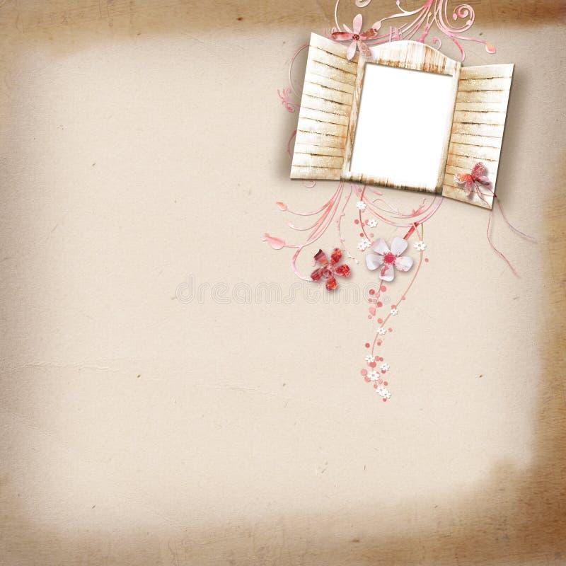 Lay-out met een frame voor een foto royalty-vrije stock afbeeldingen