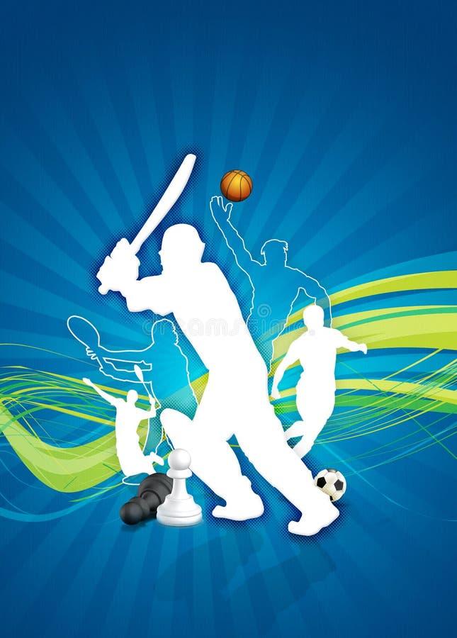 Lay-out voor Sporten royalty-vrije illustratie