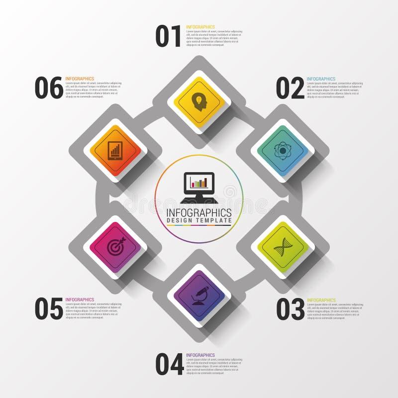 Lay-out voor uw opties of stappen Modern vectorontwerpmalplaatje Infographics Vector illustratie vector illustratie