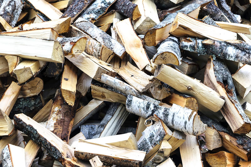Lay the wood pile royalty free stock image