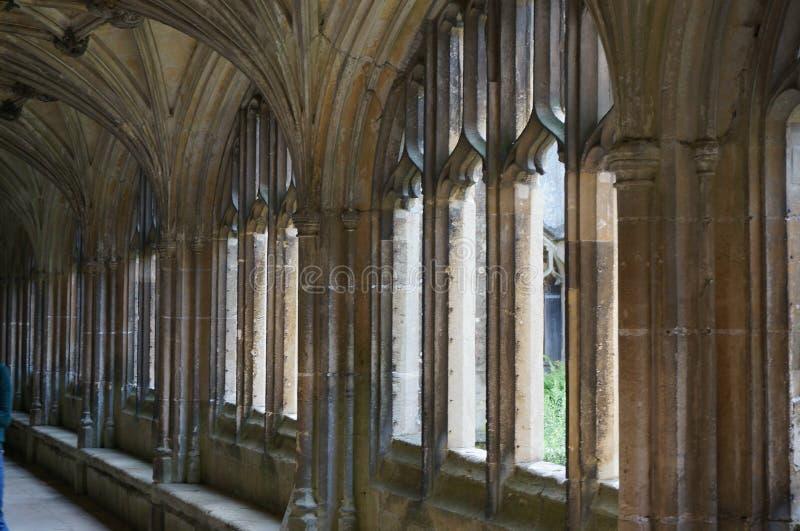 Laycock Abbey Corridor imagen de archivo libre de regalías