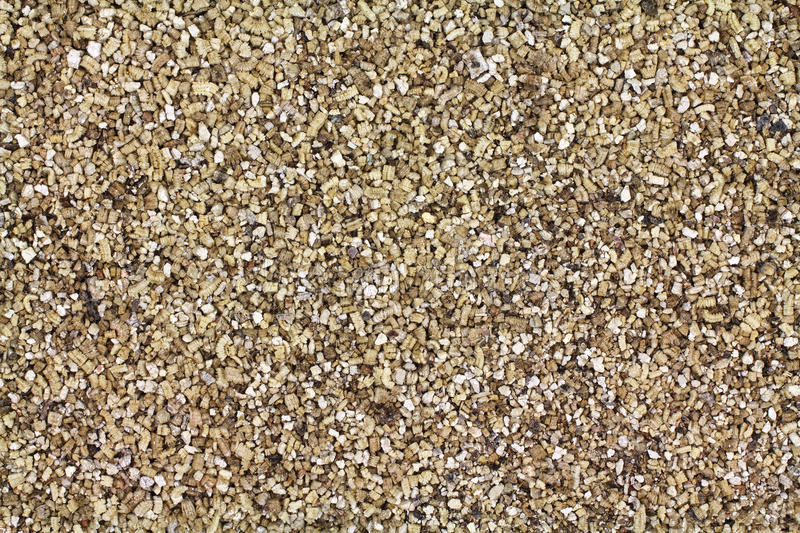 Layer of vermiculite. Close view of a layer of vermiculite used in plant potting royalty free stock photo