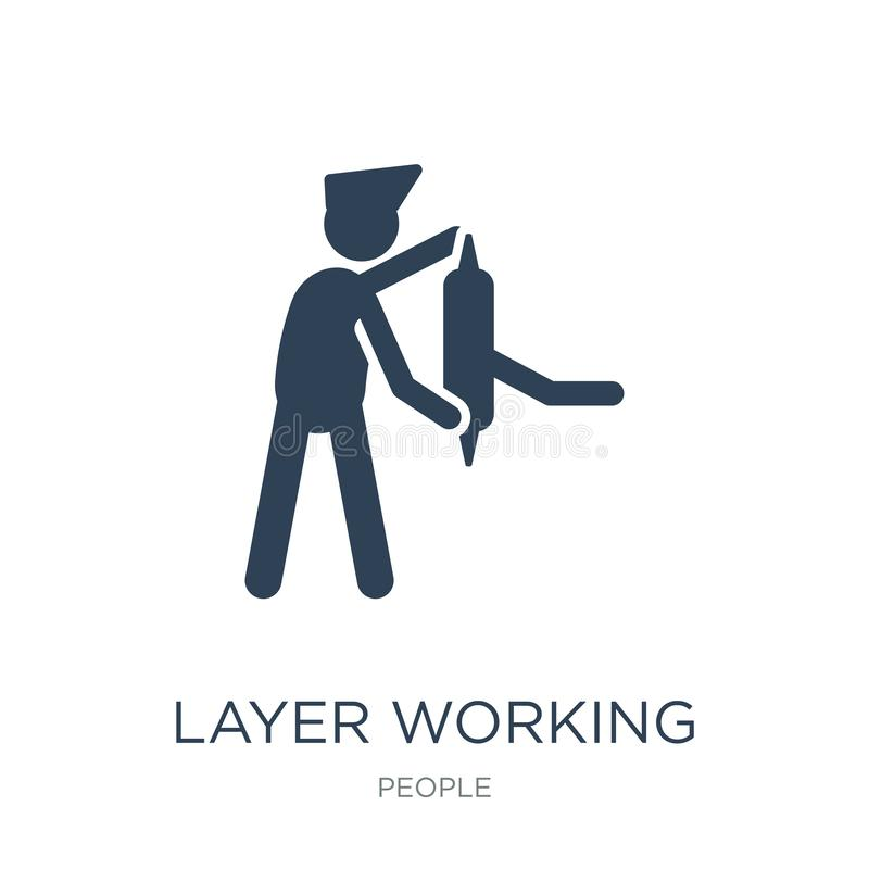 layer working icon in trendy design style. layer working icon isolated on white background. layer working vector icon simple and vector illustration