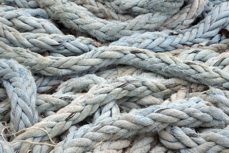 Layered blue rope royalty free stock image