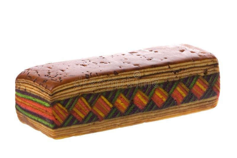 Layered Cake Isolated. Isolated image of colorful layered cake stock image