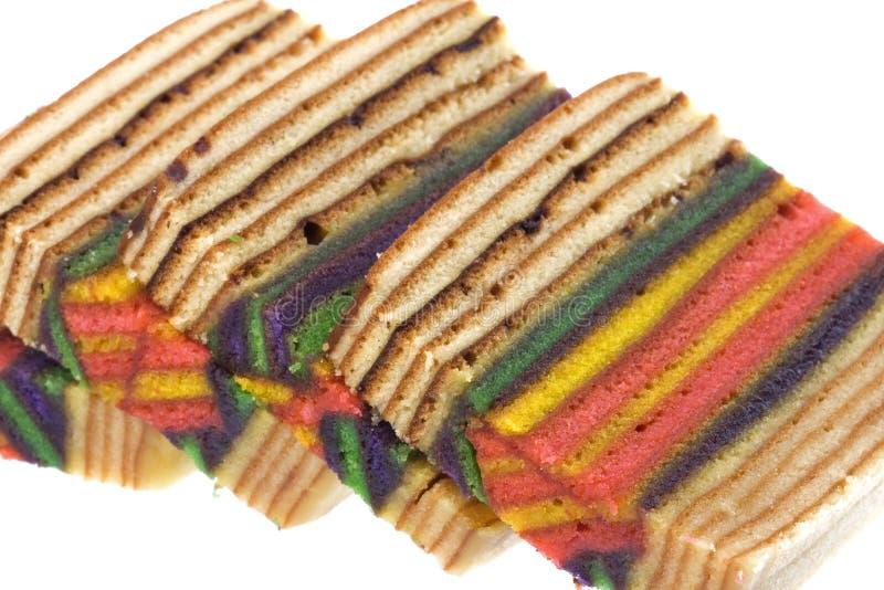 Layered Cake Isolated. Isolated image of colorful layered cake royalty free stock photo