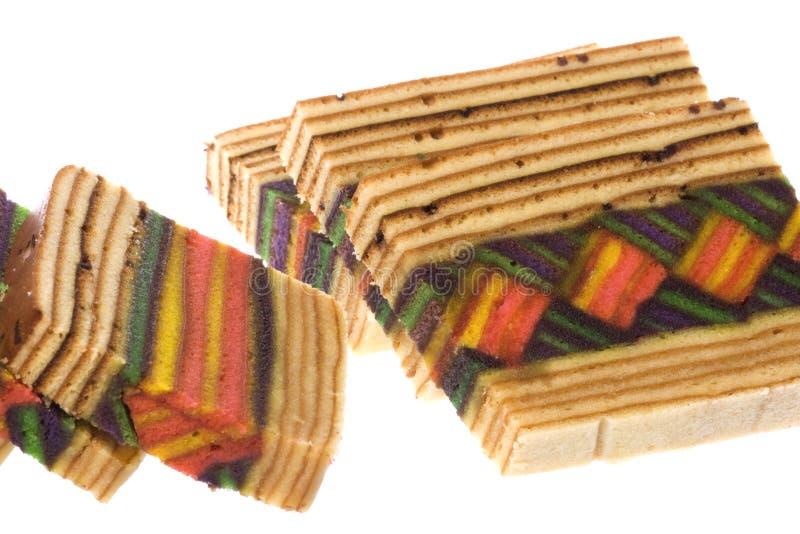 Layered Cake Isolated. Isolated image of colorful layered cake stock photos
