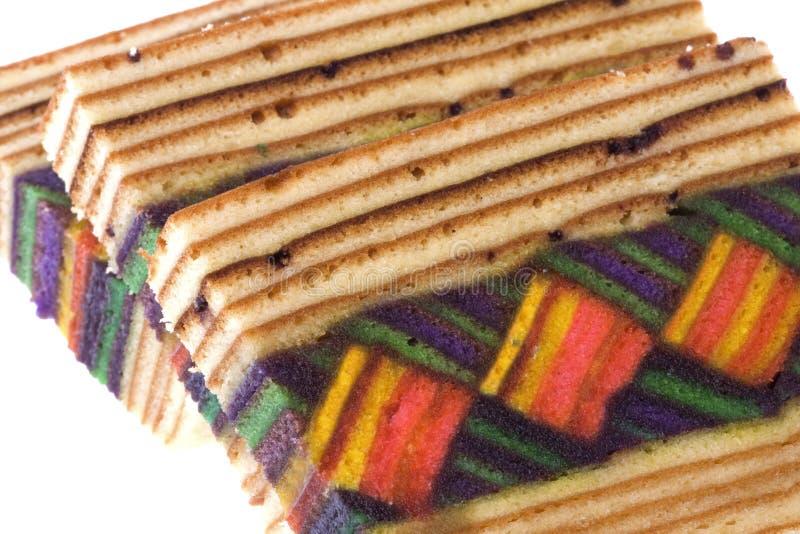 Layered Cake Isolated. Isolated image of colorful layered cake royalty free stock image