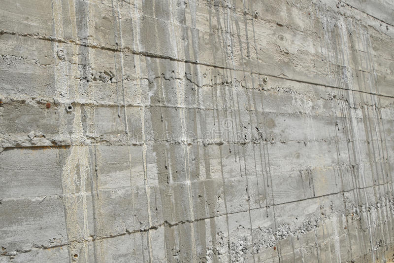 Layered concrete wall in perspective stock photography