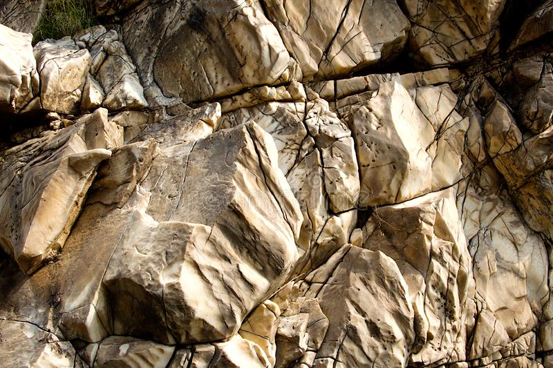Layered and Cracked Surface of Marble royalty free stock image