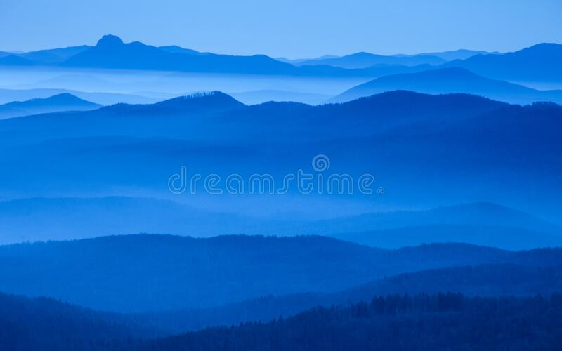 layered hills royalty free stock photo
