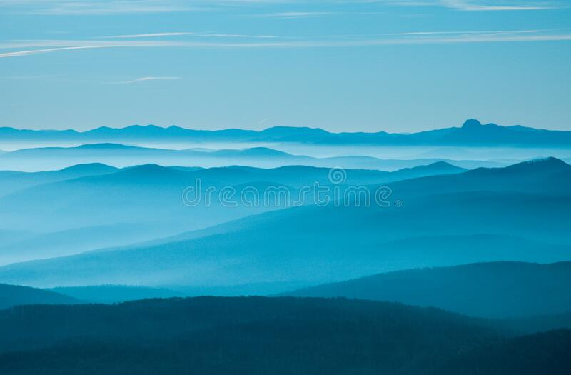 layered hills stock images