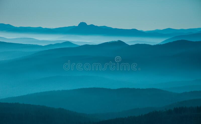 layered hills stock photography