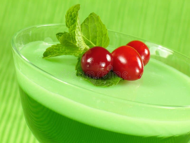 Layered Lime Gelatin Royalty Free Stock Image
