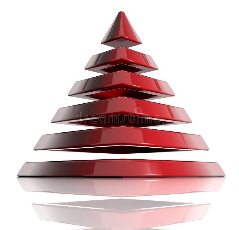 Layered pyramid royalty free illustration