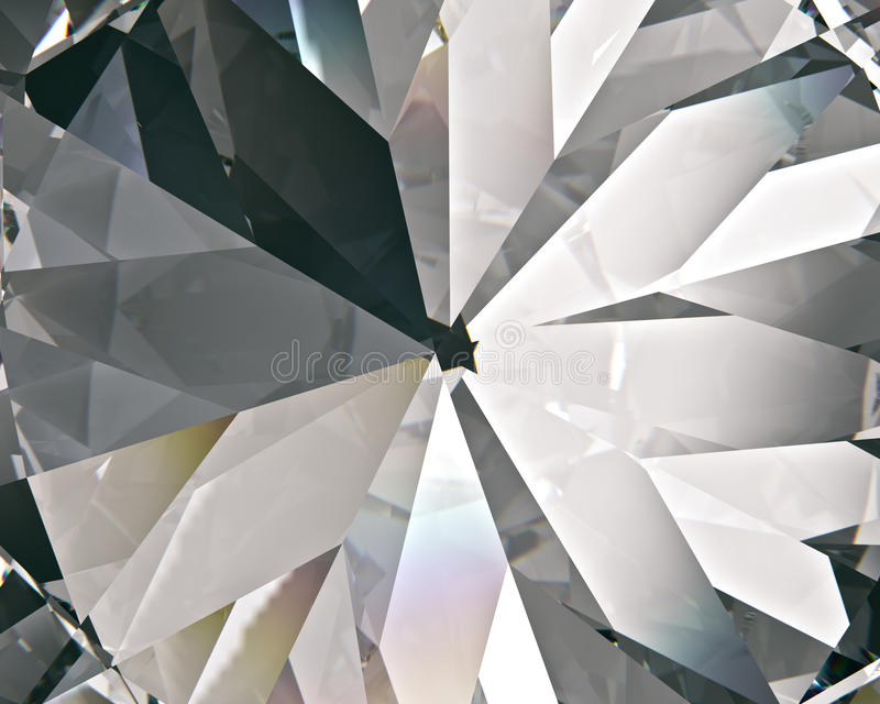 Realistic diamond with caustic close up texture, 3D illustration. vector illustration