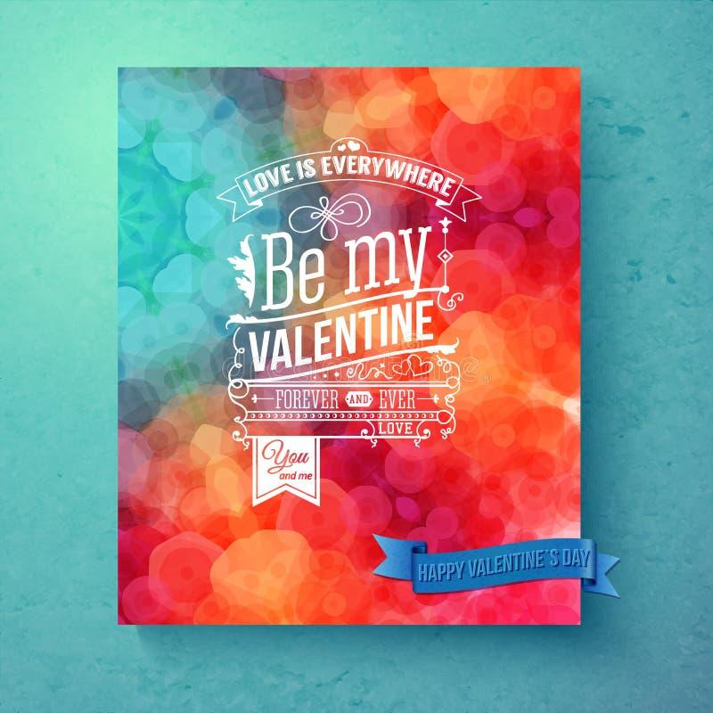 Layered vector illustration. Bright, patterned Valentines day card. vector illustration