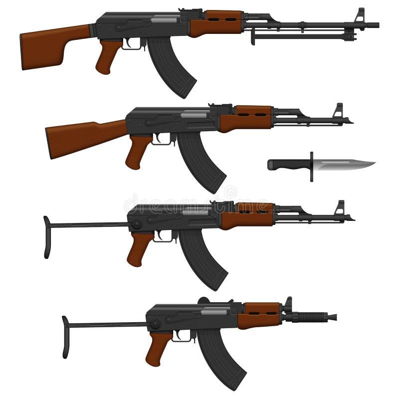 Assault rifles stock illustration