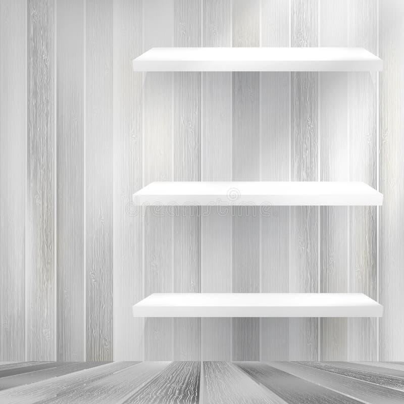 Download Layers Blank White Wooden Bookshelf. + EPS10 Stock Vector - Illustration: 39612277