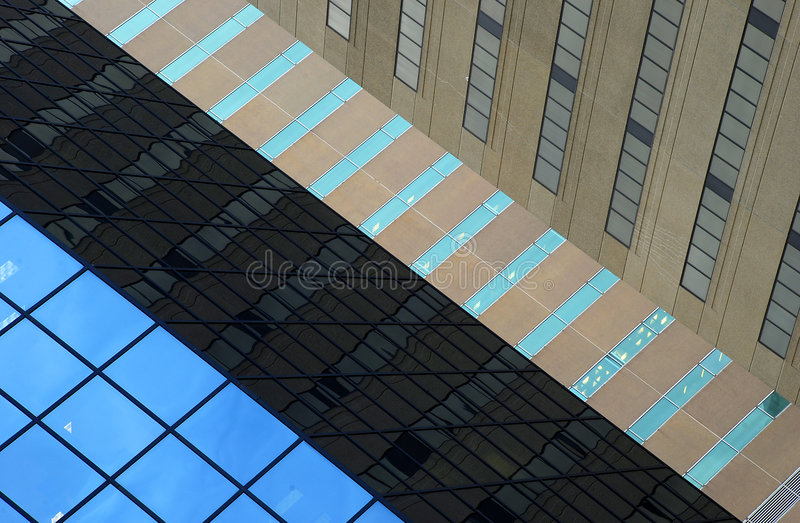 Layers of Buildings stock photo