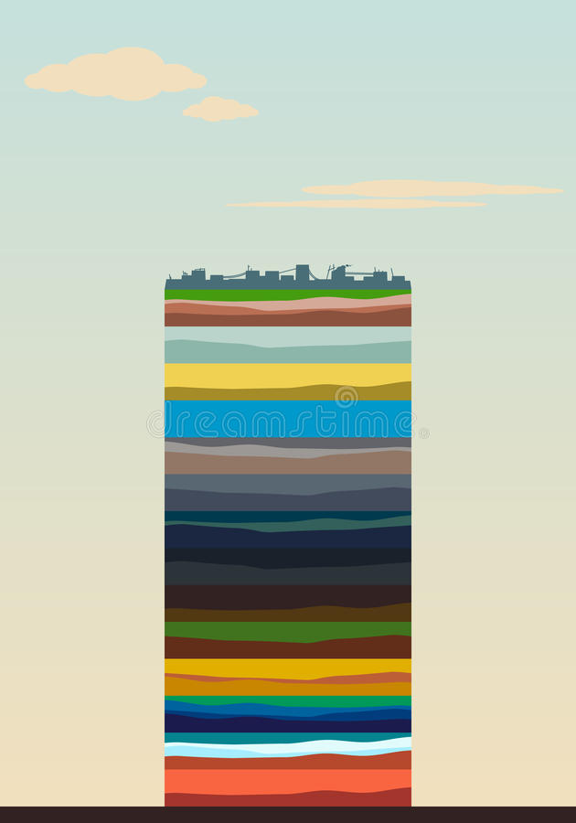 Layers of the earth stock illustration
