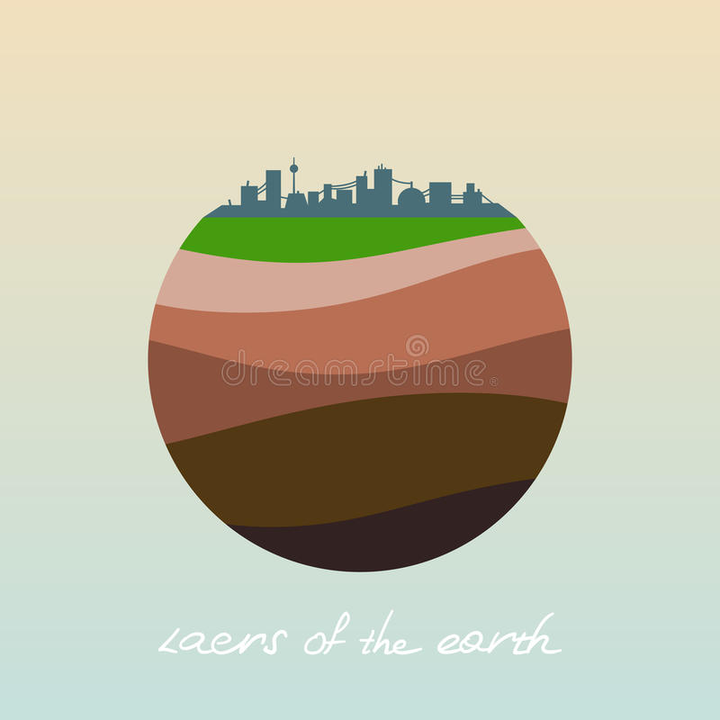 Layers of the earth. royalty free illustration
