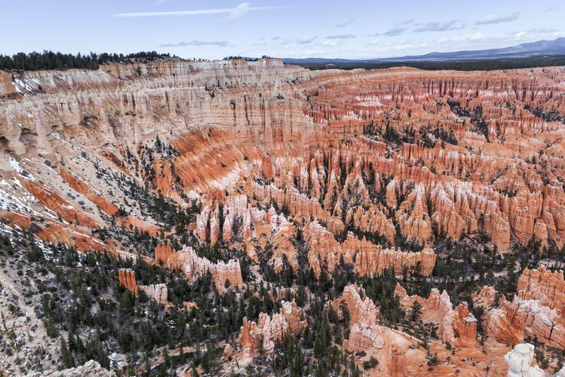 Layers Of Orange Rocks Hoodoo In Bryce Canyon, USA stock photo