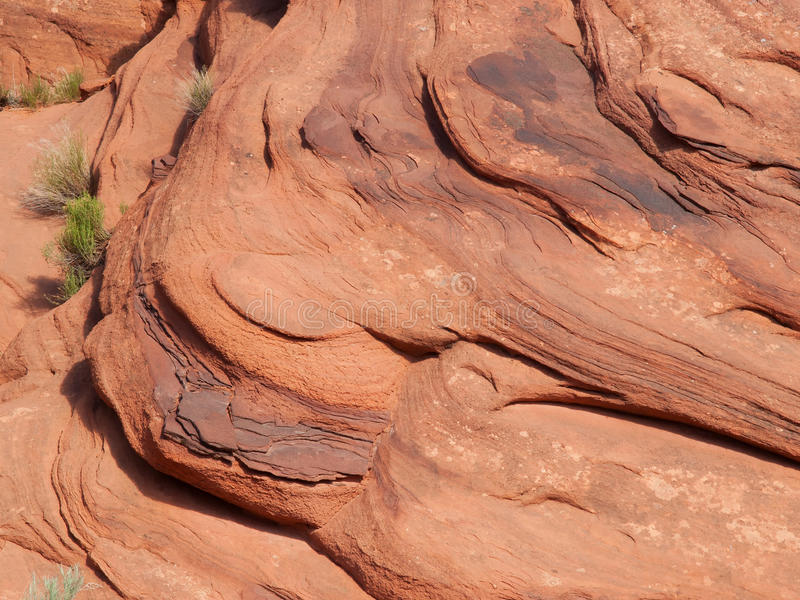 Download Layers On A Red Sandstone Cliff Stock Image - Image: 32095877