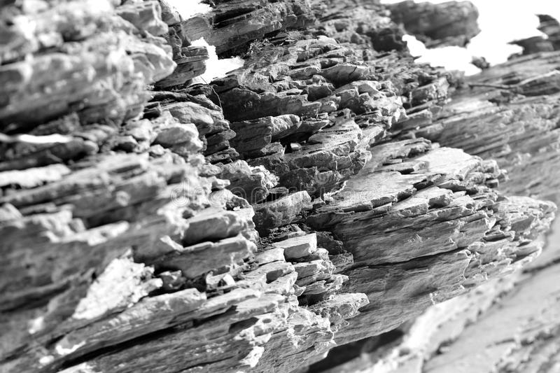 Layers of rock royalty free stock photos