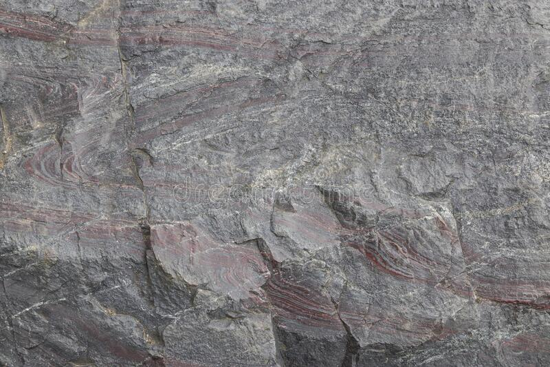 Layers of sedimentary rock formed on the earth`s surface. 2019 stock images