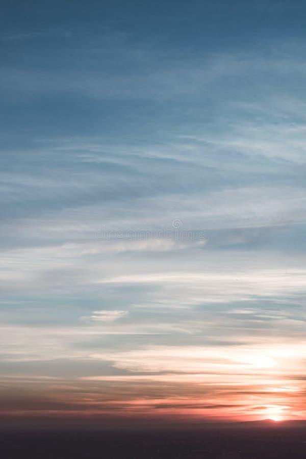 Layers of sky stock photo