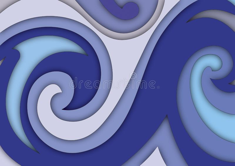 Download Layers and spirals stock illustration. Illustration of design - 5142274