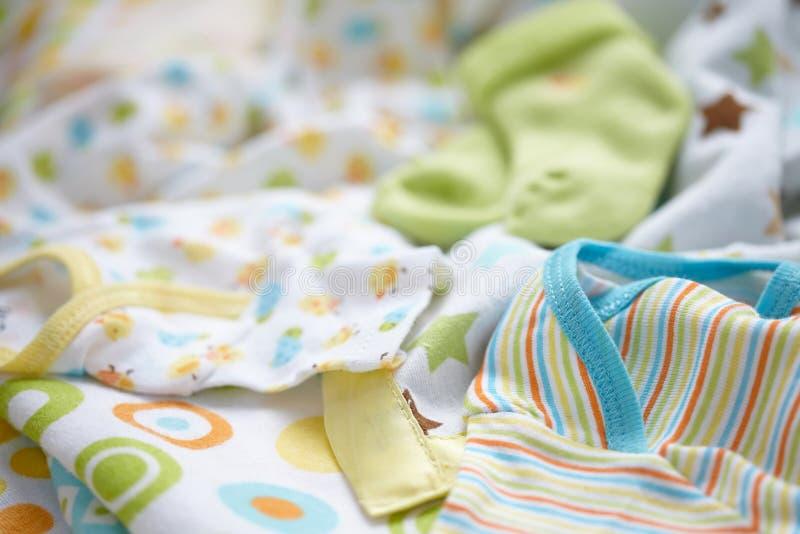 Layette for newborn baby boy royalty free stock photo