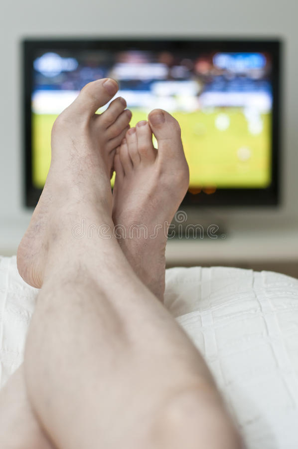 Download Laying In Bed And Watching Tv Stock Photo - Image: 17313194