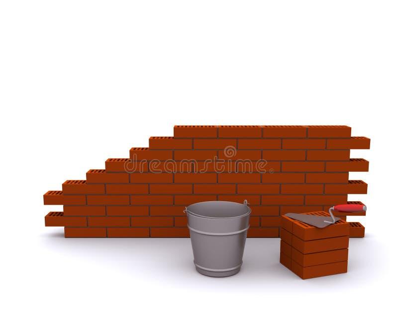 Download Laying bricks stock illustration. Image of habitation - 18319166