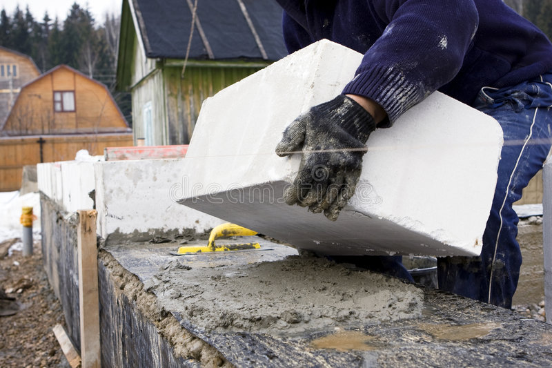 Download Laying bricks stock photo. Image of construction, dirty - 4630398