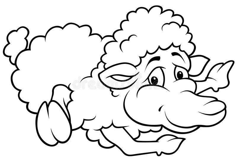 Download Laying Sheep stock vector. Image of comic, isolated, hand - 18031850