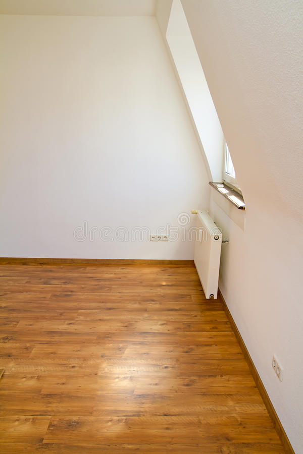 Laying wooden flooring stock image