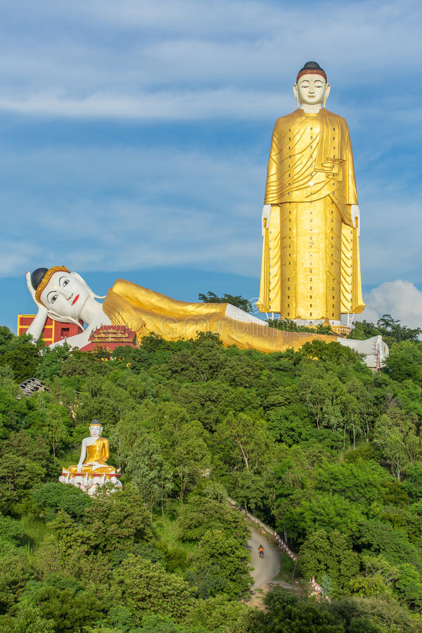 Laykyun Sekkya在Monywa,缅甸 免版税库存图片