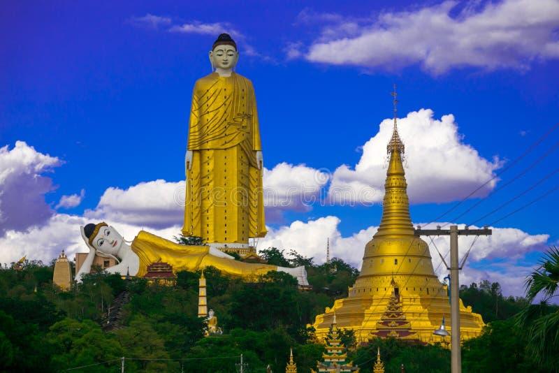 Laykyun Sekkya em Monywa Myanmar imagens de stock royalty free