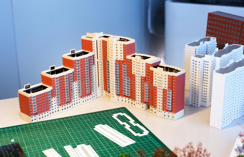 Layout of apartment buildings stock photography