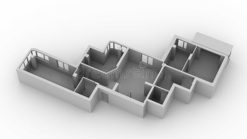 Layout apartment royalty free stock photo