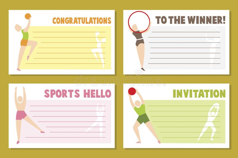 Layout banner template design for  sport event, tournament or championship - sport greeting card. Layout banner template design for sport event, tournament or vector illustration