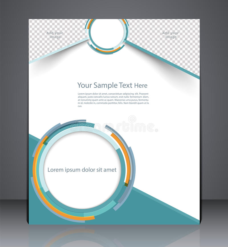 Layout business brochure, magazine cover, or corporate design te. Geometric brochure, leaflet, magazine cover, or a web site page vector illustration