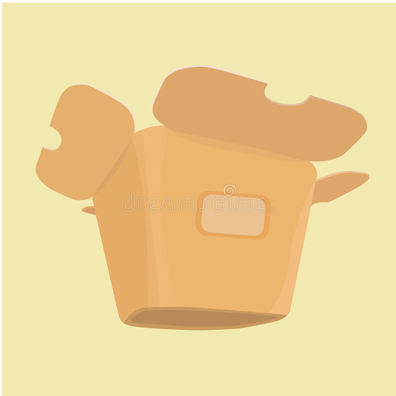 The layout of the carton for food from a fast food royalty free stock images