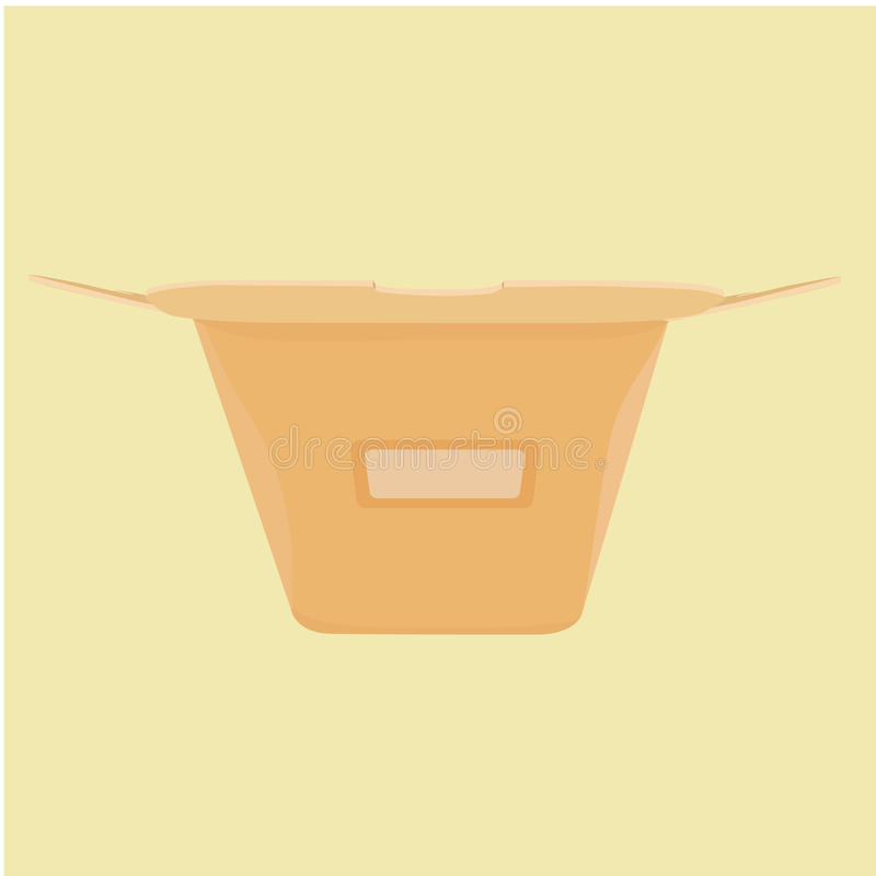 The layout of the carton for food from a fast food stock photo