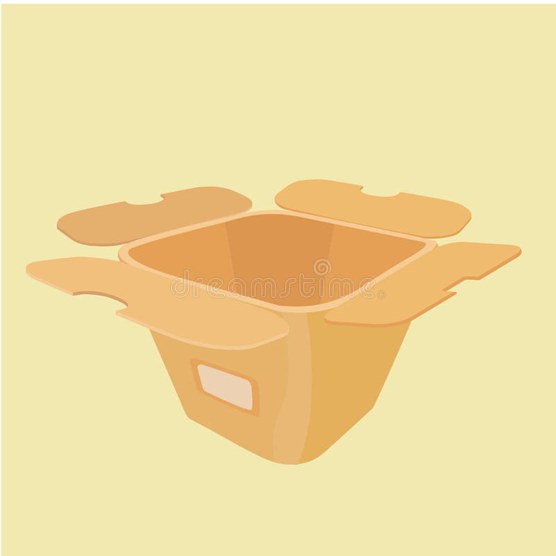 The layout of the carton for food from a fast food royalty free stock image